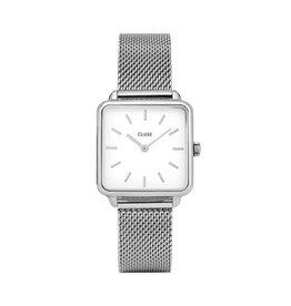 Cluse Cluse Uhr La Tétragone silber-weiß
