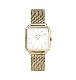 Cluse Cluse Uhr La Tétragone gold-weiß