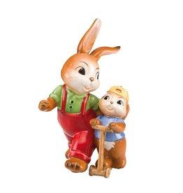 Goebel Porzellanmanufaktur Hasenpaar Papa und Sohn