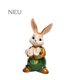 Goebel Porzellanmanufaktur Hase mit Blumenstrauß