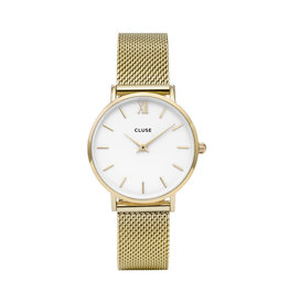 Cluse Cluse Uhr Minuit gold-weiß