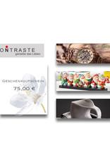 Geschenkgutschein 75,00 € I online & im Geschäft einlösbar