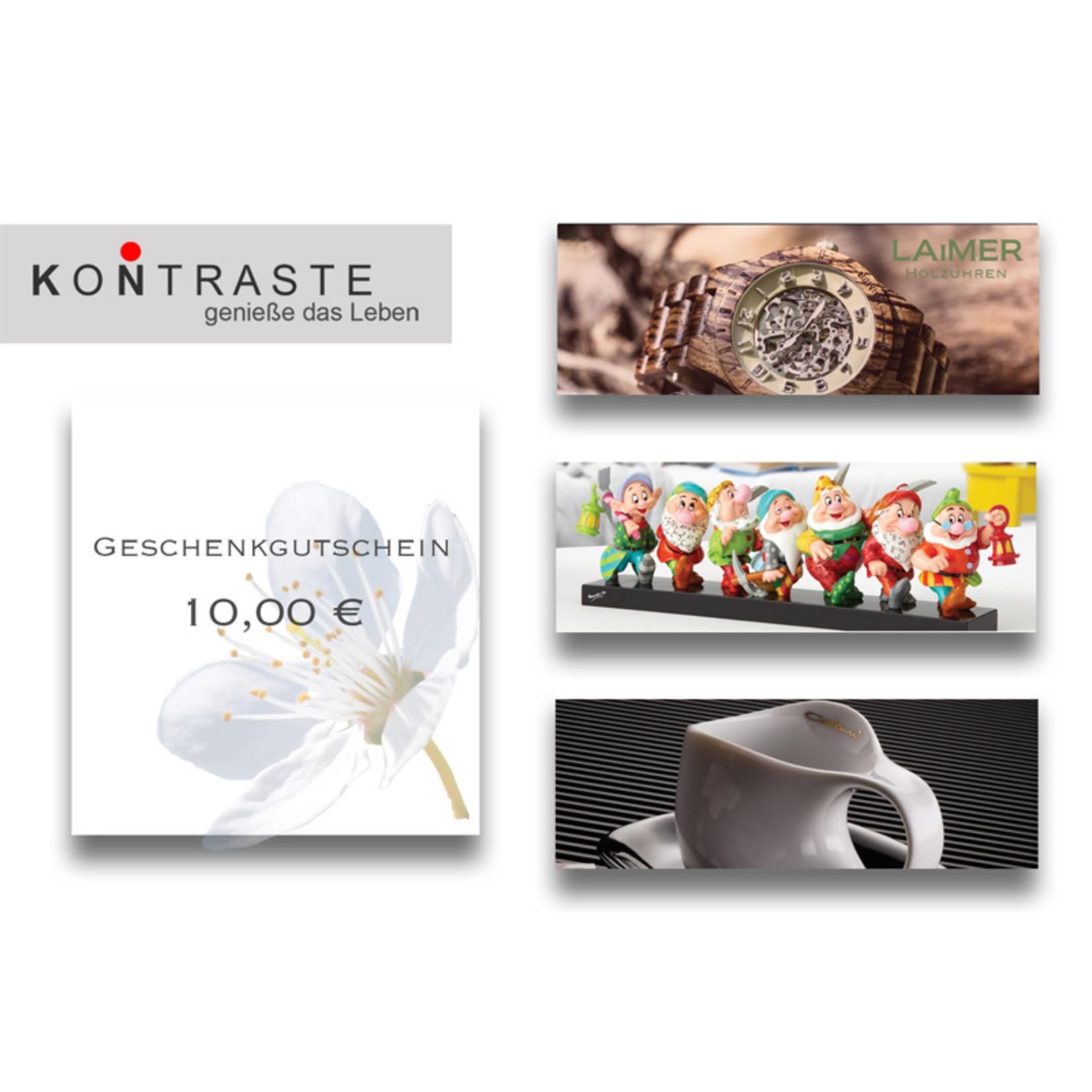 Geschenkgutschein 10,00 € I online & im Geschäft einlösbar