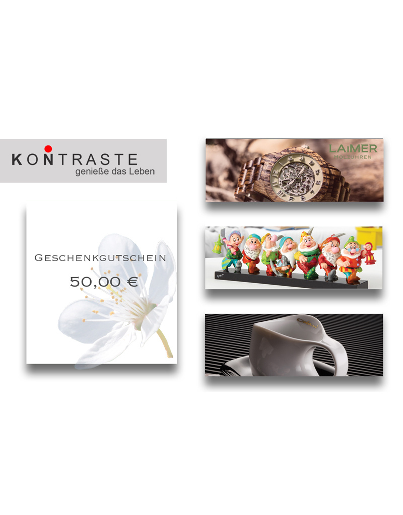 Geschenkgutschein 50,00 € I online & im Geschäft einlösbar
