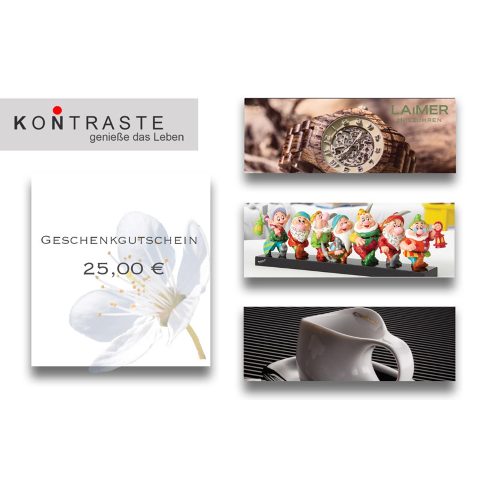 Geschenkgutschein 25,00 € I online & im Geschäft einlösbar