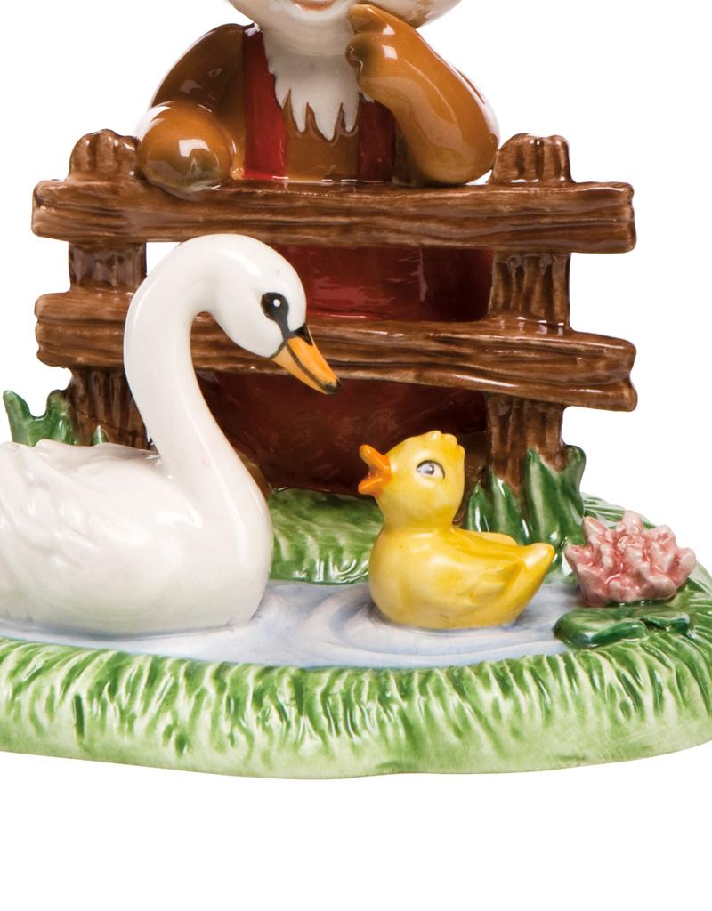 Goebel Porzellanmanufaktur Hase am Teich I Mein kleines Paradies I Schwan I Goebel