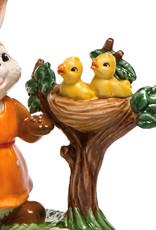 "Goebel Porzellanmanufaktur Hase mit Küken I ""Hallo kleine Küken"" I Goebel Osterhase"