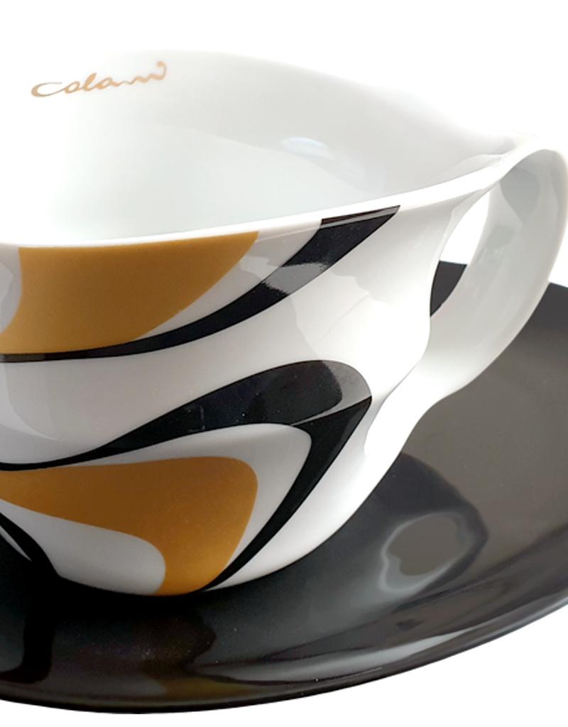 Colani Porzellanserie Colani Jumbotasse 2-tlg I gold-schwarz I Porzellan I Wave