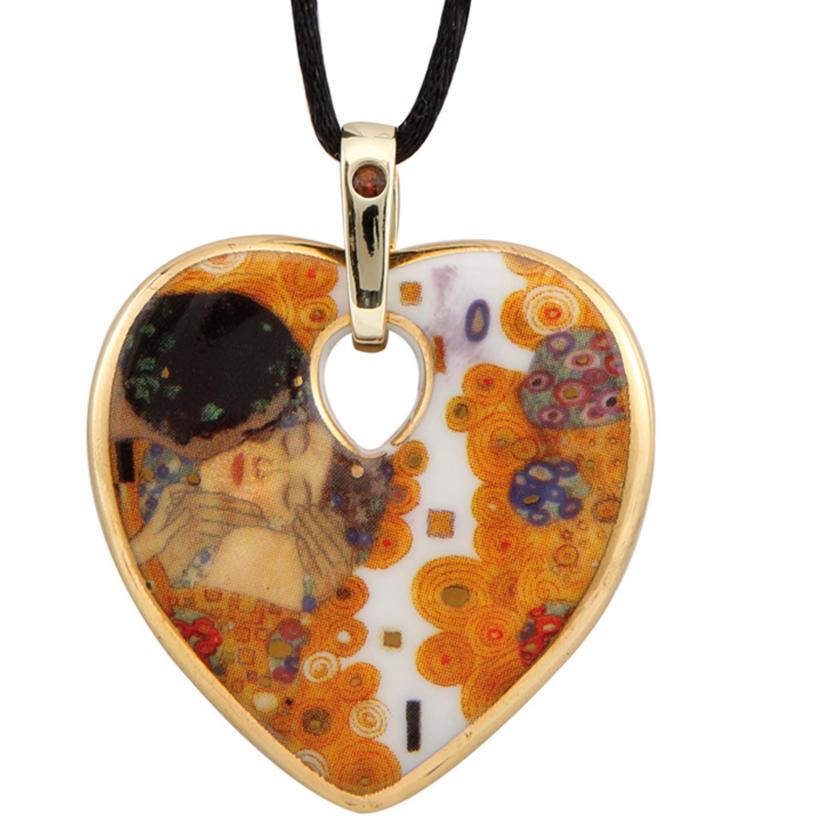 Goebel Porzellanmanufaktur Kette Der Kuss I Goebel Porzellan I Gustav Klimt I Herz