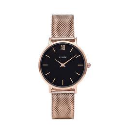 Cluse Cluse Uhr Minuit roségold-schwarz