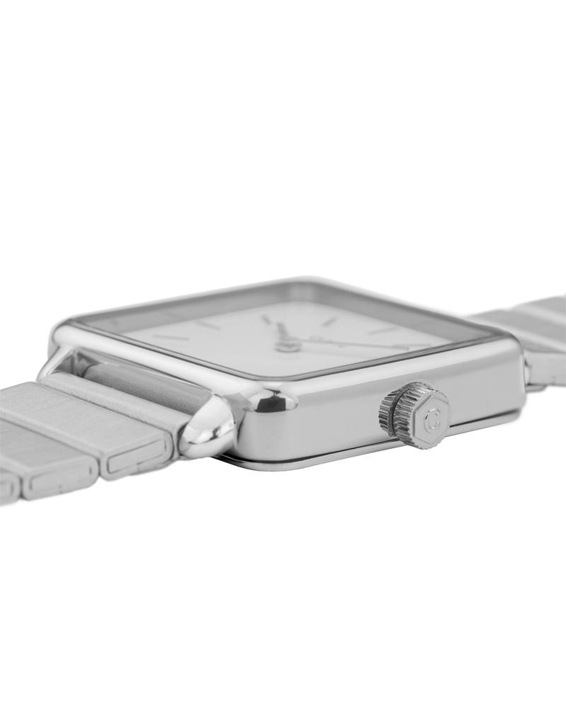 Cluse Cluse Uhr La Tétragone Single Link I silber-weiß I rechteckig