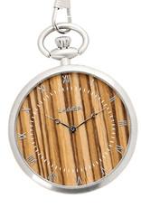 Laimer Holzuhren Laimer Taschenuhr Zebrano 50 mm I Laimer Uhr aus Zebranoholz