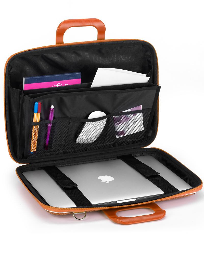 "Bombata Taschen Laptoptasche 17"" I Bombata Cocco I Notebooktasche taupe"