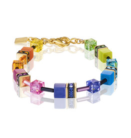 Coeur de Lion Schmuck Armband 2838/30-1573, multicolor rainbow gold