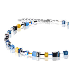 Coeur de Lion Collier 2838/10-0701, multicolor blau-gelb