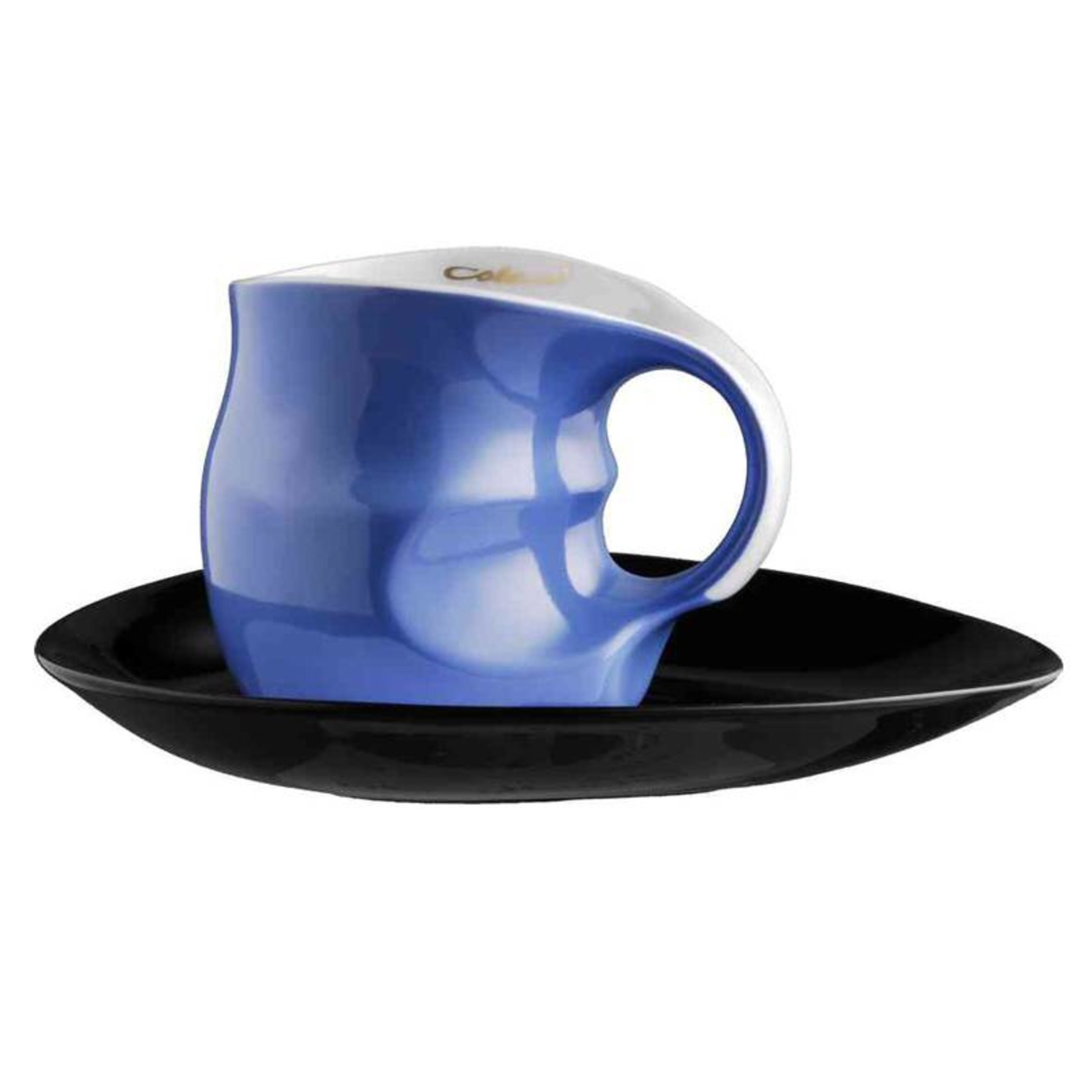 Colani Porzellanserie Colani Kaffee-/Cappuccinotasse | Tasse inkl. Unterteller | blau