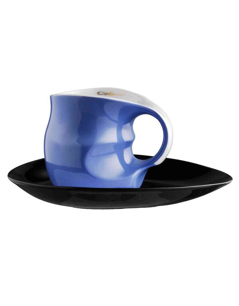 Colani Porzellanserie Colani Kaffee-/Cappuccinotasse 2- teilig in blau