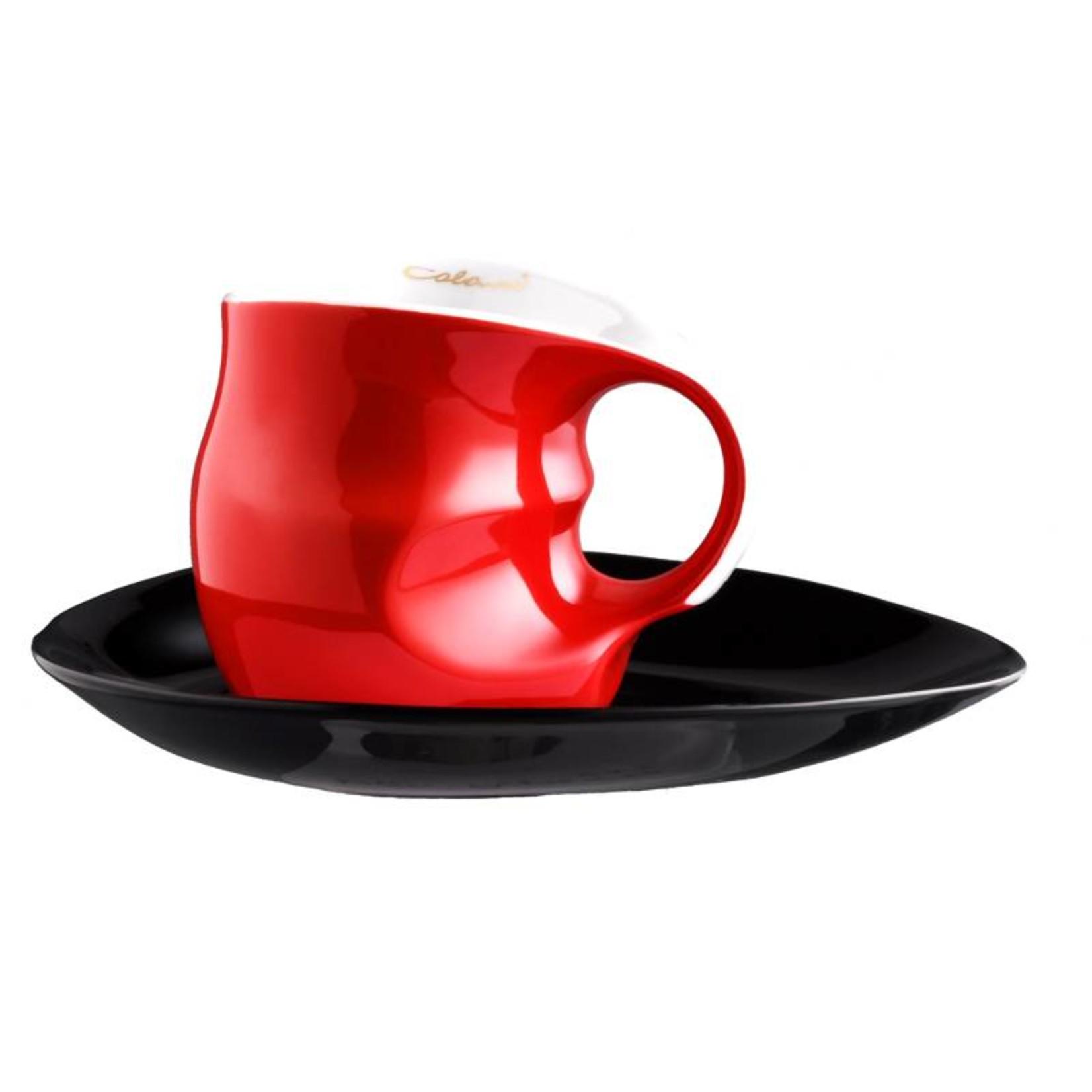 Colani Porzellanserie Colani Kaffee-/Cappuccinotasse | Tasse inkl. Unterteller | rot