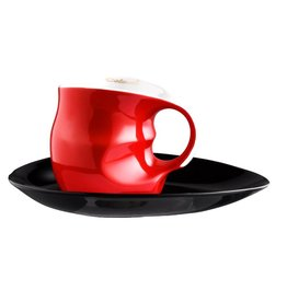 Colani Porzellanserie Colani Kaffee-/Cappuccinotasse 2-tlg. rot