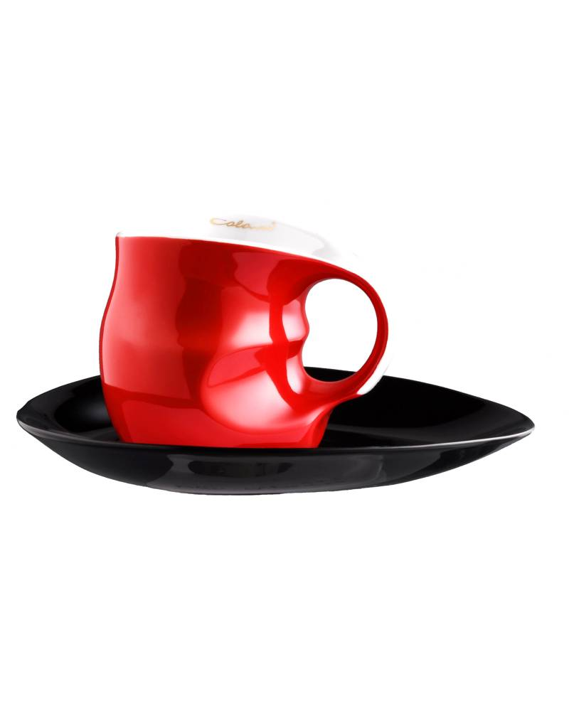 Colani Porzellanserie Colani Kaffee-/Cappuccinotasse 2- teilig in Rot