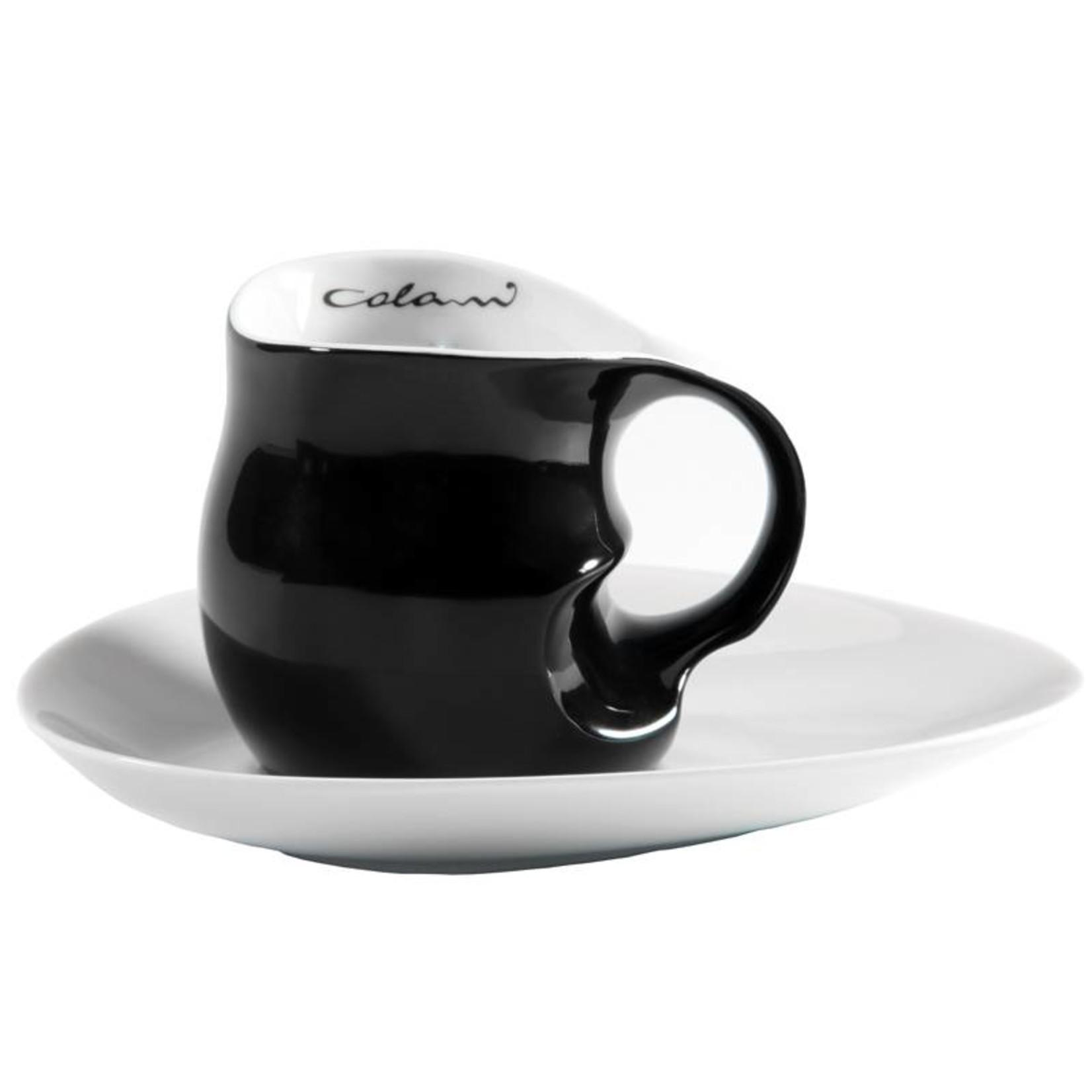 Colani Porzellanserie Colani Kaffee-/Cappuccinotasse   Tasse inkl. Unterteller   schwarz