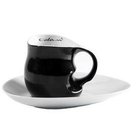 Colani Porzellanserie Colani Kaffee-/Cappuccinotasse 2- tlg. schwarz
