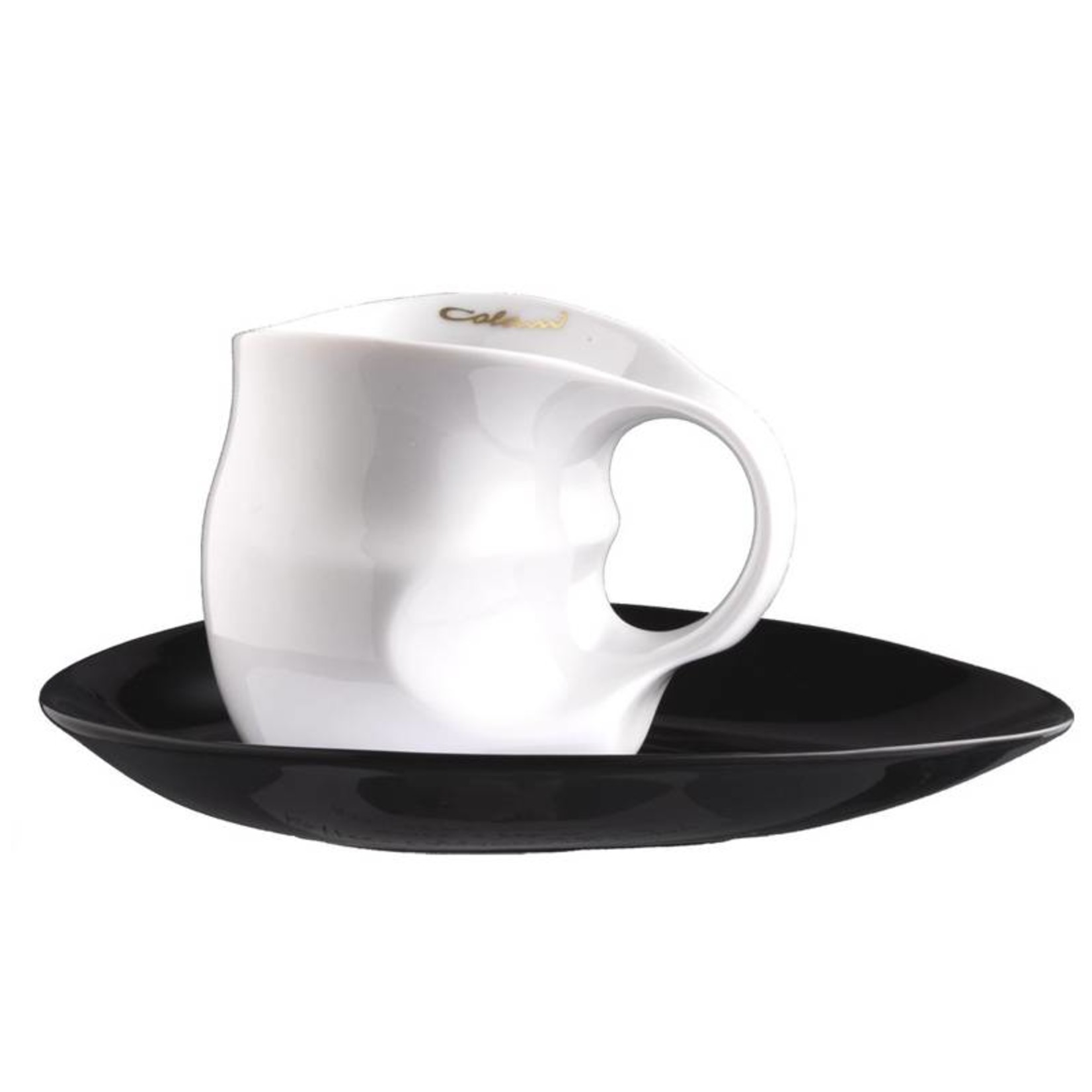 Colani Porzellanserie Colani Kaffee-/Cappuccinotasse | Tasse inkl. Unterteller | weiß