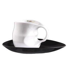 Colani Porzellanserie Colani Kaffee-/Cappuccinotasse 2-tlg. weiß
