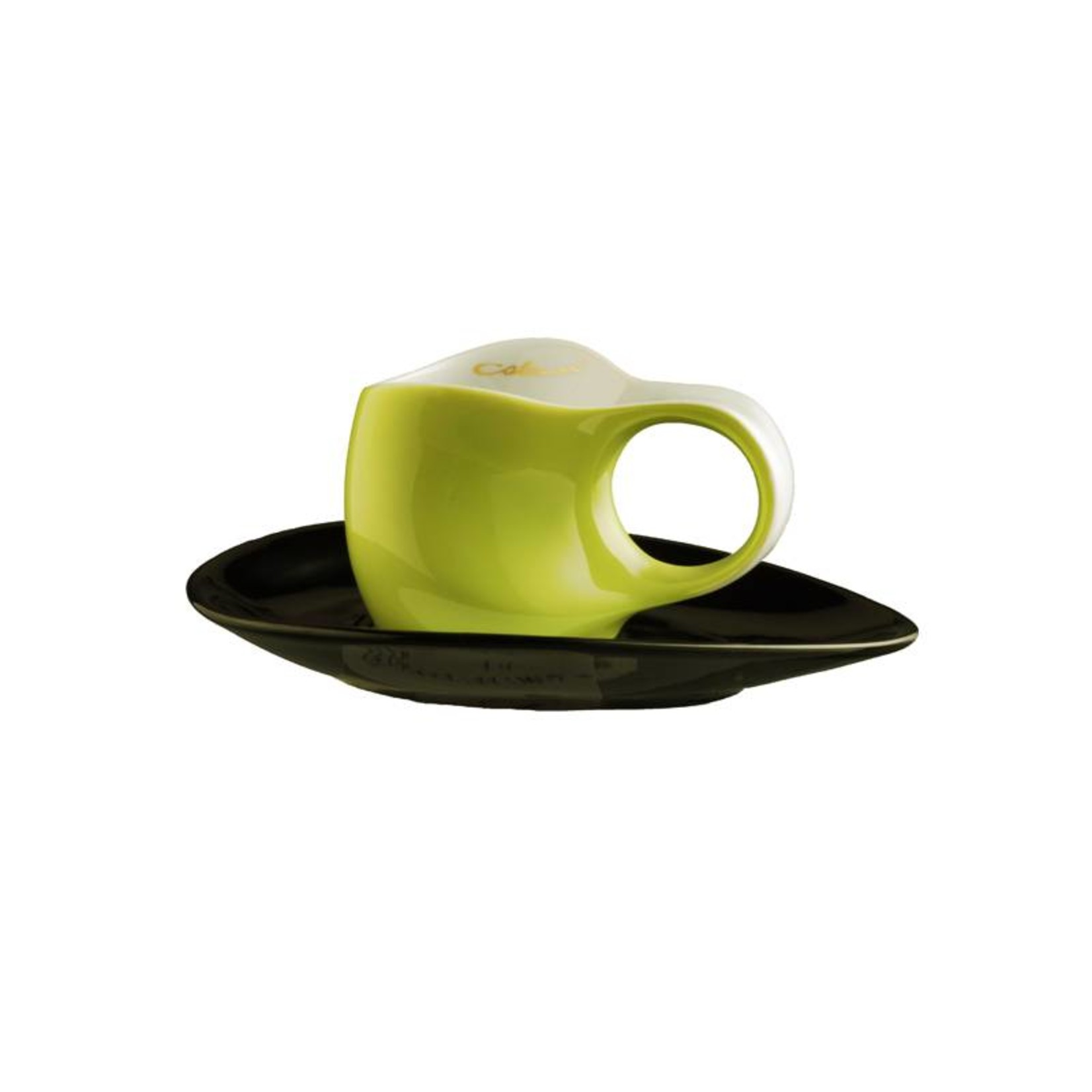Colani Porzellanserie Colani Espressotasse | Tasse inkl. Unterteller | grün