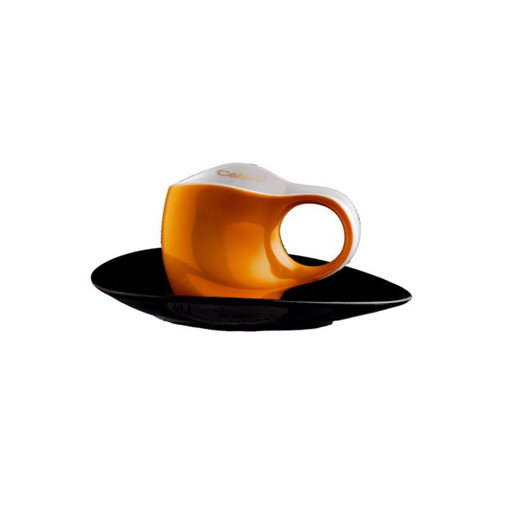Colani Porzellanserie Colani Espressotasse   Tasse inkl. Unterteller   orange