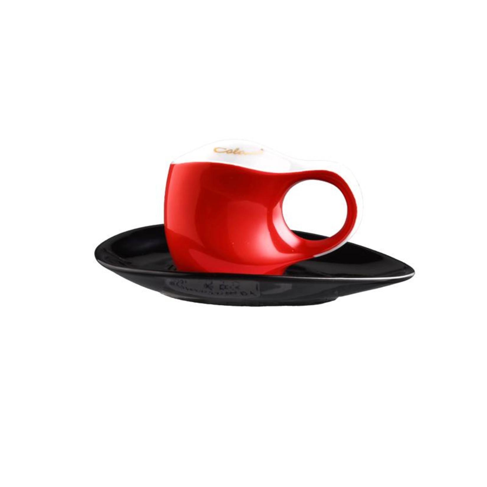 Colani Porzellanserie Colani Espressotasse | Tasse inkl. Unterteller | rot