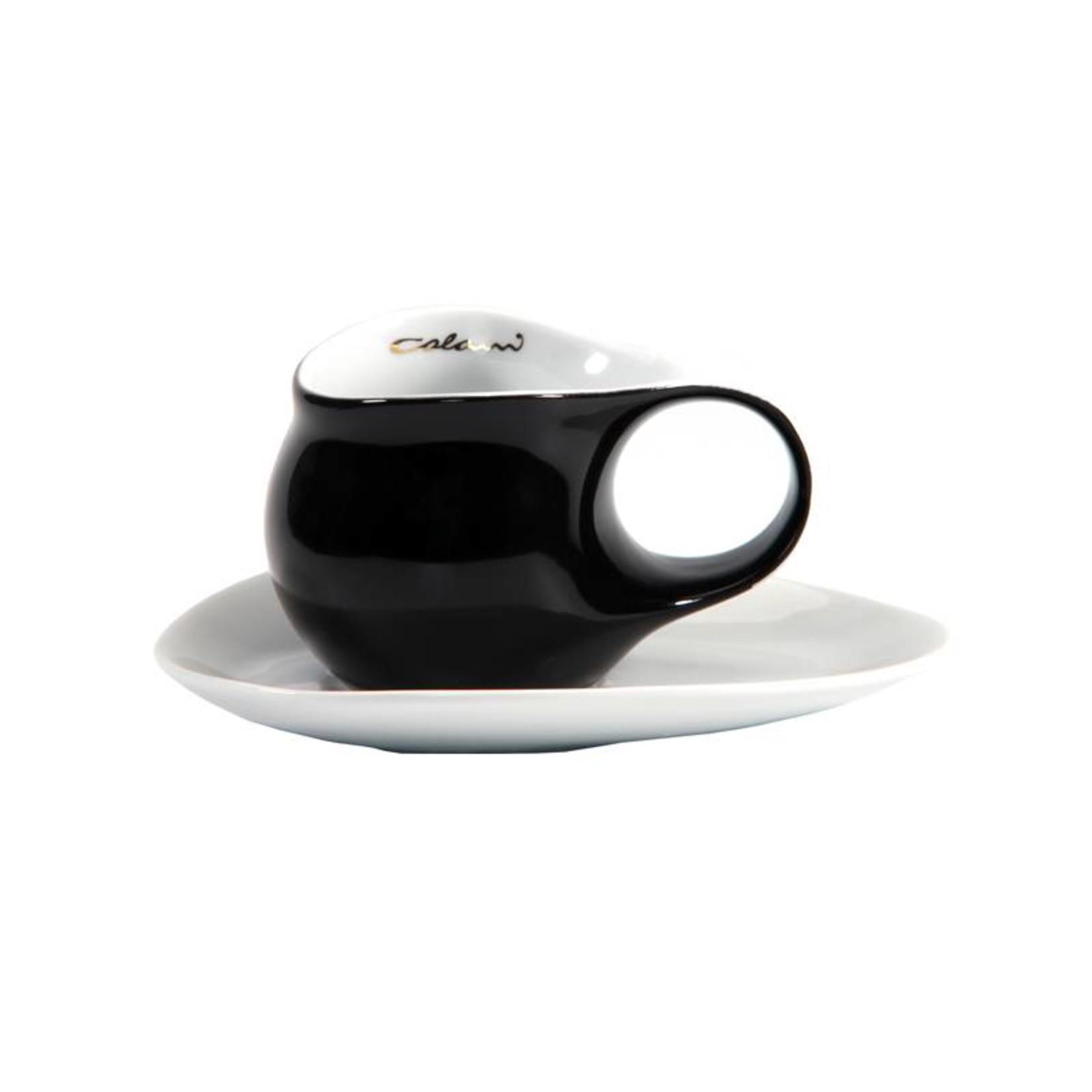 Colani Porzellanserie Colani Espressotasse, groß | Tasse inkl. Unterteller | schwarz