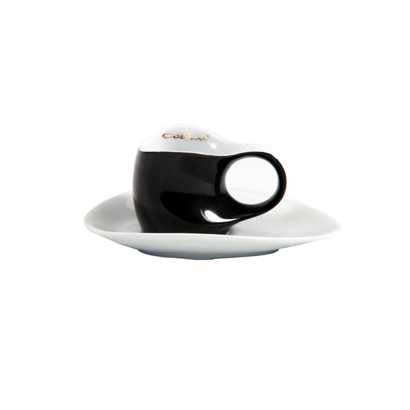 Colani Porzellanserie Colani Espressotasse | Tasse inkl. Unterteller | schwarz