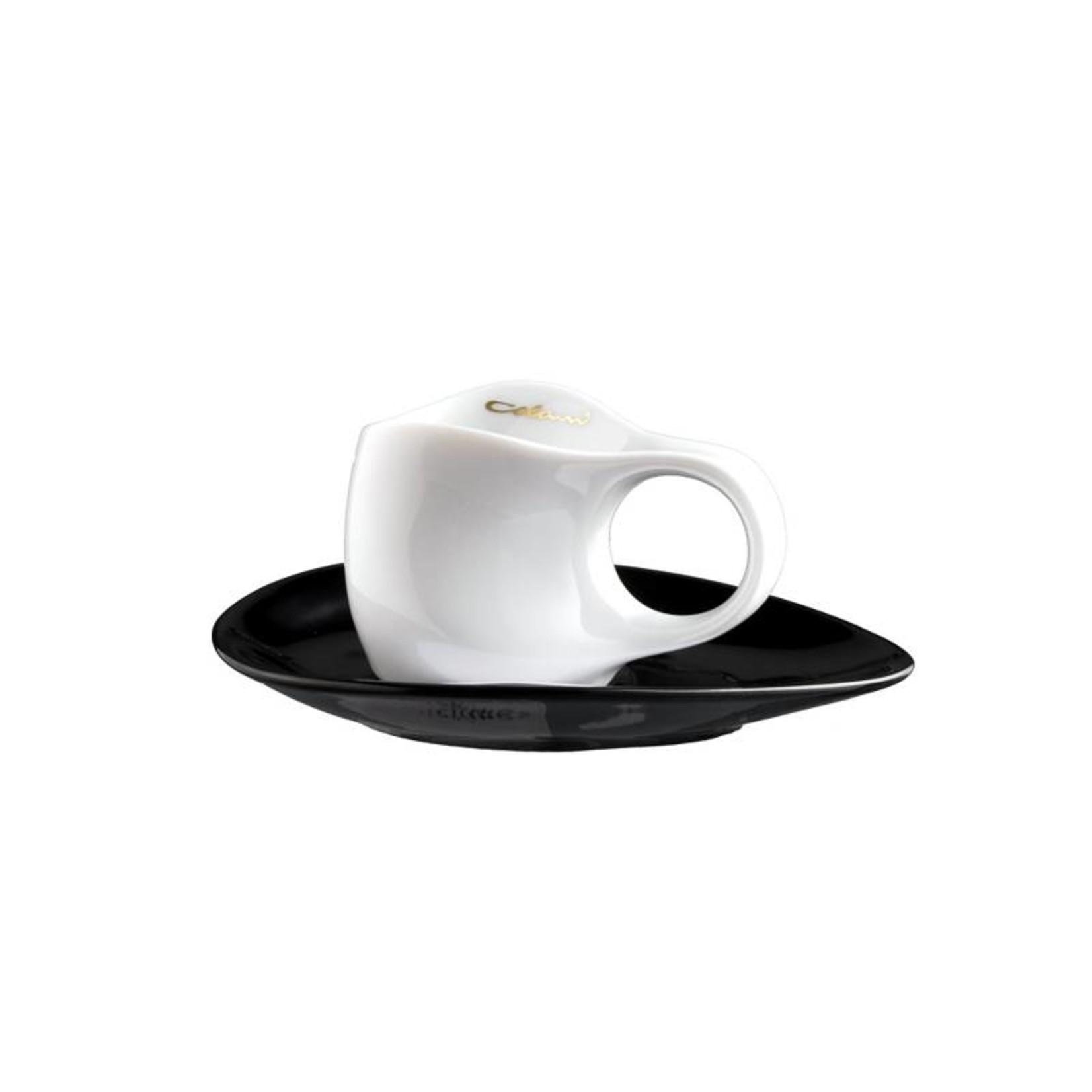 Colani Porzellanserie Colani Espressotasse | Tasse inkl. Unterteller | weiß