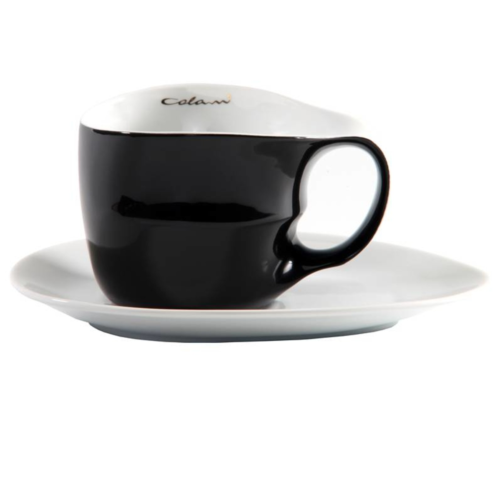 Colani Porzellanserie Colani Jumbotasse | Tasse inkl. Unterteller | schwarz