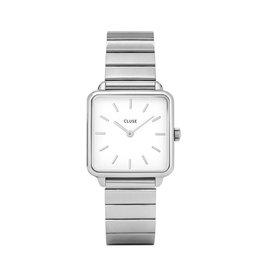Cluse Cluse Uhr La Tétragone  Single Link silber-weiß
