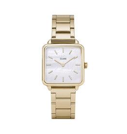 Cluse Cluse Uhr La Tétragone  Three Link gold-weiß