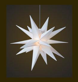 DecoTrend Weihnachtssterne Weihnachtsstern, weiß, 65 cm
