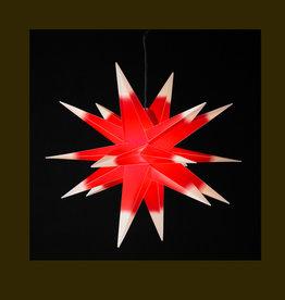DecoTrend Weihnachtssterne Weihnachtsstern, rot-weiß, 55 cm