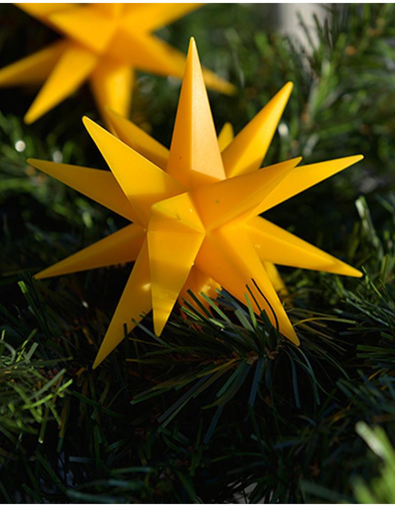 LED Sternenkette, gelb I 9 Sterne I Außen & Innen I wetterfest