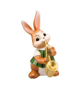 Goebel Porzellanmanufaktur Hase mit  Saxophon