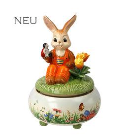 Goebel Porzellanmanufaktur Spieluhr Picknick im Frühling