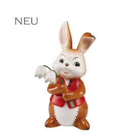 Goebel Porzellanmanufaktur Hase mit Schneeglöckchen