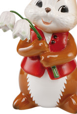"""Goebel Porzellanmanufaktur Hase mit Schneeglöckchen I """"Hurra der Frühling ist da"""" I Goebel"""