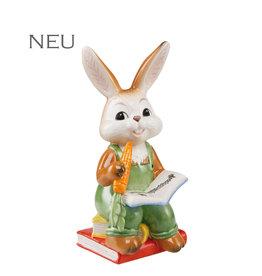 Goebel Porzellanmanufaktur Hase mit Möhre und Bücher