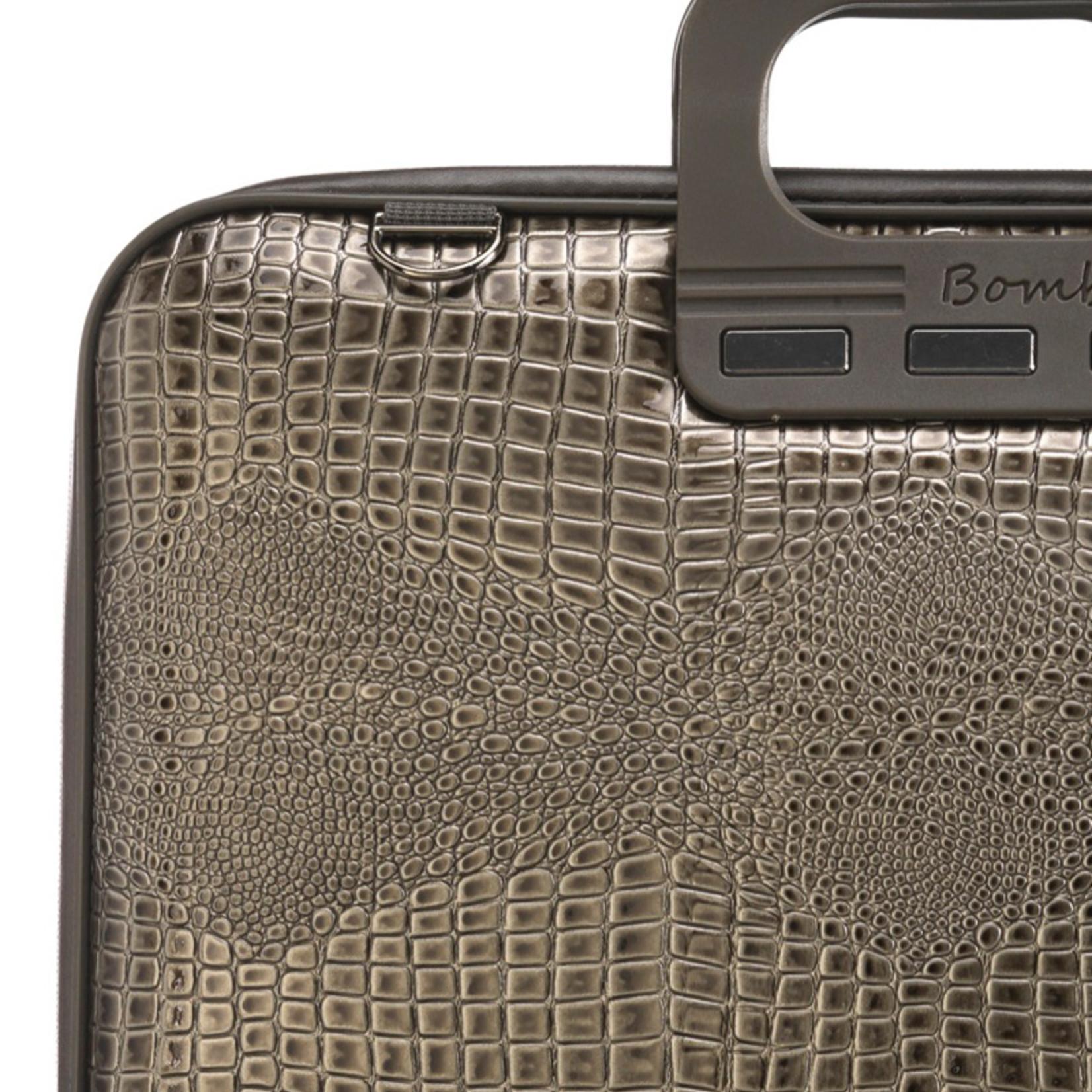 """Bombata Taschen Laptoptasche 15,6"""" I Bombata Shiny Cocco I Notebooktasche charcoal"""