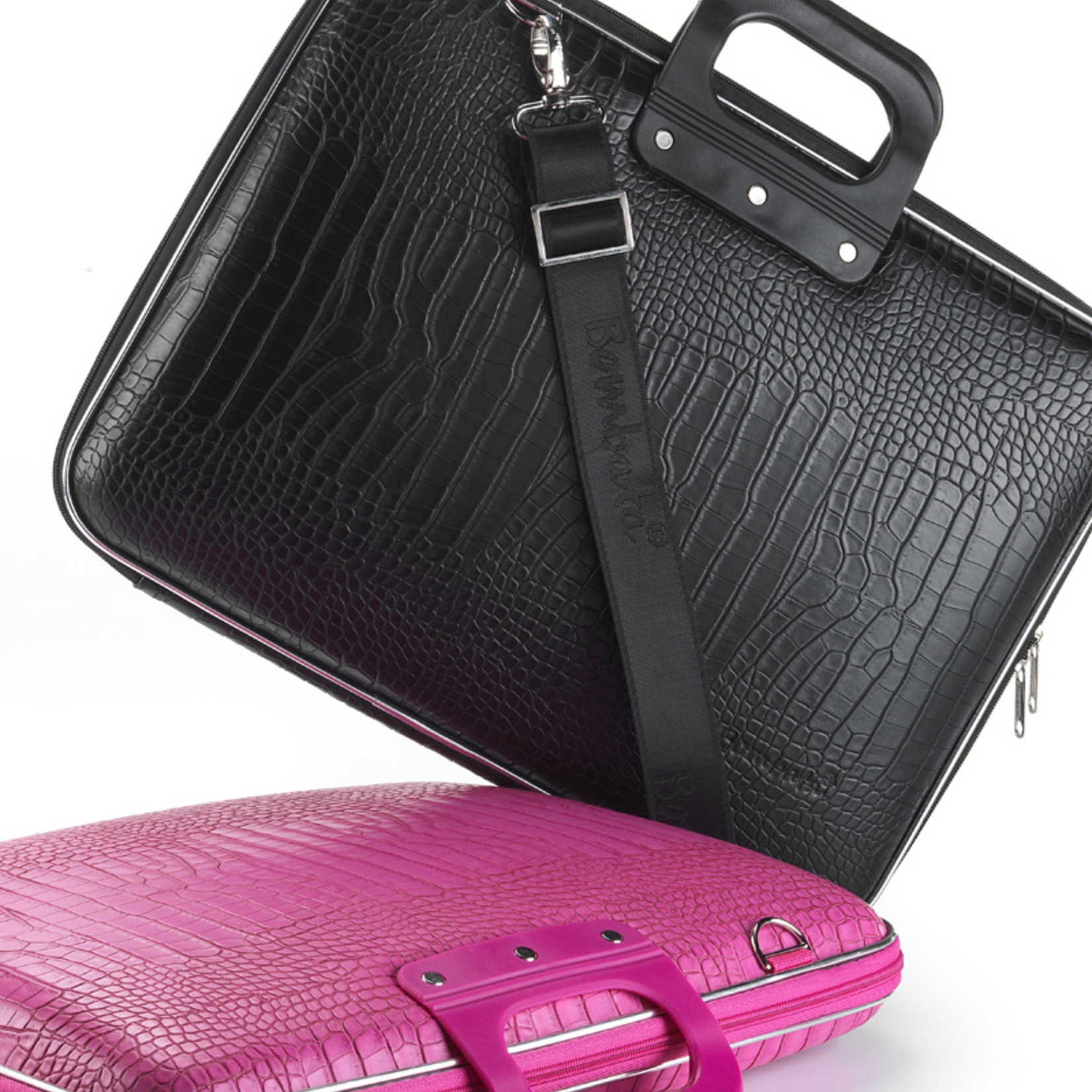 "Bombata Taschen Laptoptasche 15,6"" | Bombata Shiny Cocco | Notebooktasche violett"