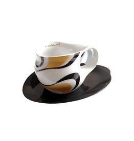 Colani Porzellanserie Colani Espressotasse groß 2-tlg., gold-schwarz