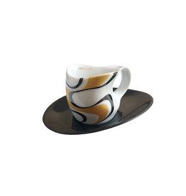Colani Porzellanserie Colani Espressotasse 2-tlg., gold-schwarz