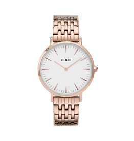 Cluse Cluse Uhr La Bohème Multi-Link roségold-weiß